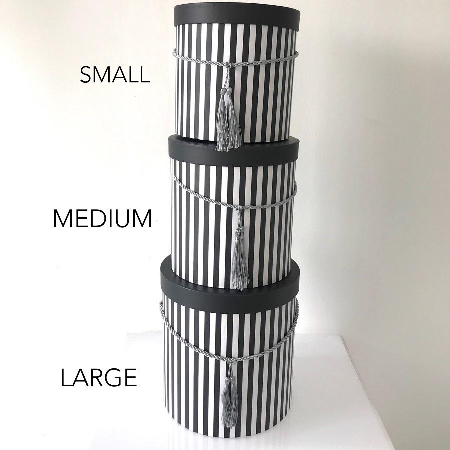 Black White Stripe Box Crystal Couture